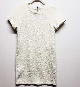 Lou & Grey Ivory White Quilted Midi Shift Dress XS